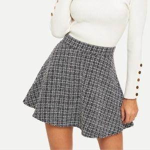 NEW tweed skater skirt